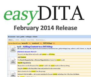 easyDITA New Release - February 2014